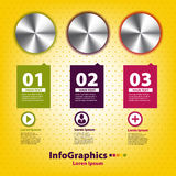 Insieme infographic con tre maniglie Fotografia Stock Libera da Diritti