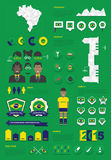 Insieme infographic del Brasile Fotografia Stock
