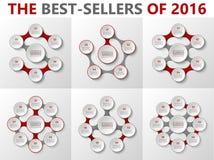 Insieme infographic del cerchio di vettore Fotografia Stock