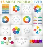 Insieme infographic del cerchio di vettore Fotografia Stock Libera da Diritti
