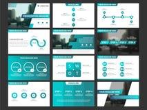 Insieme infographic del modello degli elementi di presentazione di affari, progettazione orizzontale corporativa dell'opuscolo de Fotografia Stock Libera da Diritti