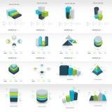 Insieme infographic del modello della geometria Immagine Stock Libera da Diritti
