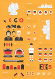 Insieme infographic della Germania Immagine Stock