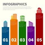 Insieme infographic di costruzione Fotografia Stock