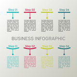 Insieme infographic di vettore Diagrammi, presentazioni e grafici di affari Fondo Immagine Stock