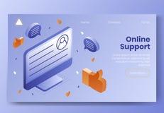 Insieme isometrico di concetto di progetto di Digital delle icone 3d per il app online di sostegno Simboli isometrici della rete  fotografia stock