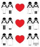 Insieme lesbico dell'icona delle spose Fotografia Stock Libera da Diritti