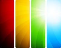 Insieme luminoso delle bandiere Fotografia Stock