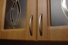 Insieme marrone chiaro della cucina Fotografia Stock