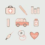 Insieme medico Illustrazione di Stock