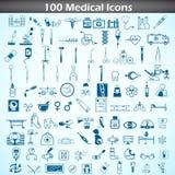 Insieme medico dell'icona Fotografia Stock