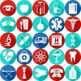 Insieme medico dell'icona Immagine Stock