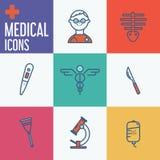 Insieme medico moderno dell'icona illustrator illustrazione vettoriale