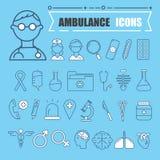 Insieme medico moderno dell'icona illustrator illustrazione di stock