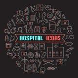 Insieme medico moderno dell'icona illustrator royalty illustrazione gratis