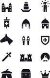 Insieme medievale dell'icona di età Immagini Stock Libere da Diritti
