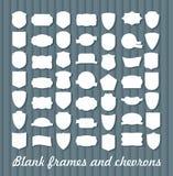 Insieme mega dei telai d'annata per gli emblemi, etichette illustrazione di stock