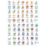 Insieme mega del logo igienico sanitario illustrazione vettoriale