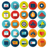 Insieme mega dell'illustrazione piana di vettore delle icone Fotografia Stock Libera da Diritti