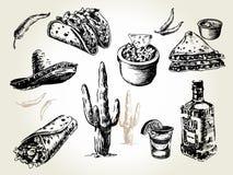 Insieme messicano dell'alimento Fotografie Stock