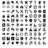 Insieme minimalista dell'icona Fotografie Stock Libere da Diritti