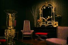 Insieme misterioso e elegante della mobilia Fotografia Stock Libera da Diritti