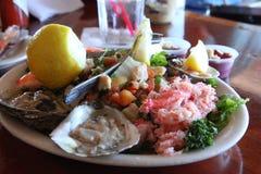 Insieme misto del pranzo dei frutti di mare Fotografie Stock Libere da Diritti