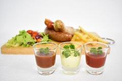 Insieme misto della salsiccia Fotografie Stock