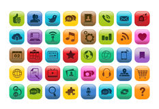 Insieme mobile dell'icona del bottone di App Immagini Stock