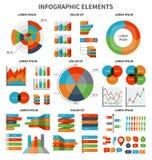 Insieme moderno degli elementi infographic di affari royalty illustrazione gratis