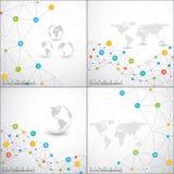 Insieme moderno del modello infographic di vettore della rete Può essere usato per la disposizione di flusso di lavoro, il diagra Immagine Stock Libera da Diritti