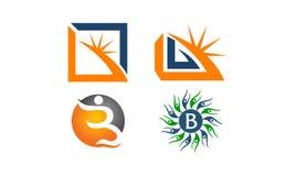Insieme moderno del modello del Logotype Fotografia Stock Libera da Diritti