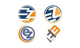 Insieme moderno del modello del Logotype Immagine Stock