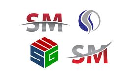 Insieme moderno del modello del Logotype Immagine Stock Libera da Diritti