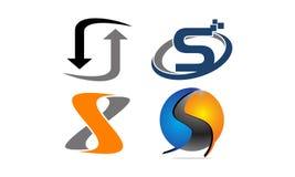 Insieme moderno del modello del Logotype Fotografia Stock