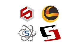 Insieme moderno del modello del Logotype Fotografie Stock