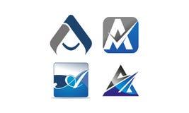 Insieme moderno del modello del Logotype Immagini Stock