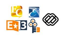 Insieme moderno del modello del Logotype Immagini Stock Libere da Diritti
