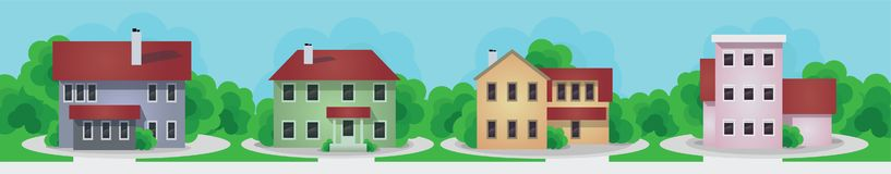 Insieme moderno e vecchio delle case del cottage royalty illustrazione gratis