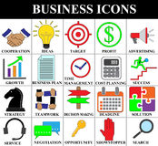 Insieme moderno semplice dell'icona di tema di affari venti Fotografia Stock