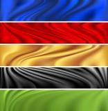 Insieme moderno variopinto della bandiera Fotografie Stock Libere da Diritti