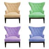 Insieme multicolore del sofà isolato Fotografie Stock