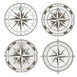 Insieme di vecchi simboli nautici fotografie stock for Atlante compass