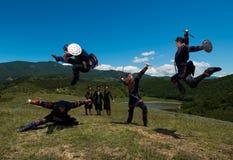 Insieme nazionale di ballo e di canzone di Georgia Erisioni Fotografie Stock