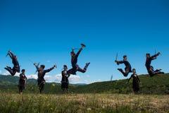 Insieme nazionale di ballo e di canzone di Georgia Erisioni Immagini Stock Libere da Diritti