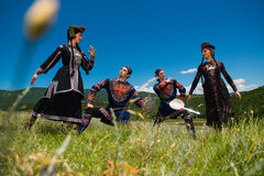 Insieme nazionale di ballo e di canzone di Georgia Erisioni Fotografia Stock Libera da Diritti