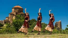 Insieme nazionale di ballo e di canzone di Georgia Erisioni Immagini Stock