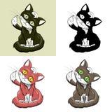Insieme nero del gattino Royalty Illustrazione gratis