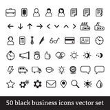Insieme nero di vettore delle icone di affari Illustrazione Vettoriale
