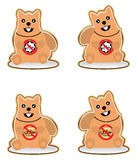 Insieme non halal del cane Immagini Stock Libere da Diritti